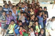 Choreographer Sneha Kapoor spends time with NGO kids