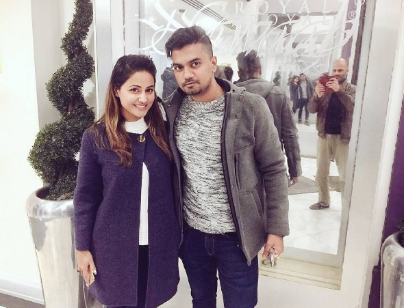 Beau Rocky Jaiswal VISITS his lady love Hina Khan in Spain
